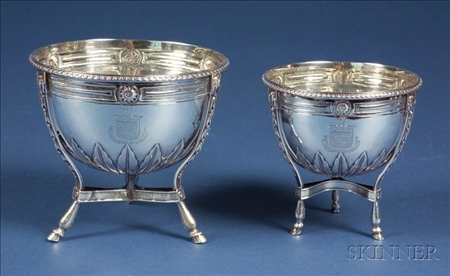 Pair of George III Silver Footed Bowls