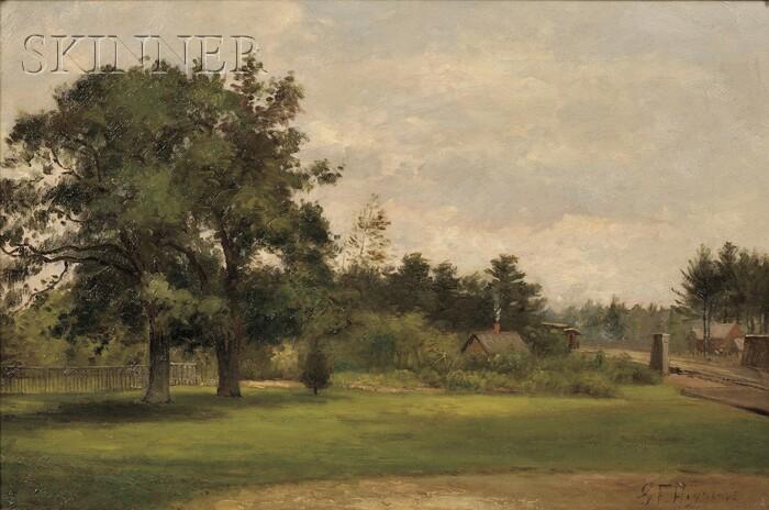 George Frank Higgins (American, b. 1850)      Village Green