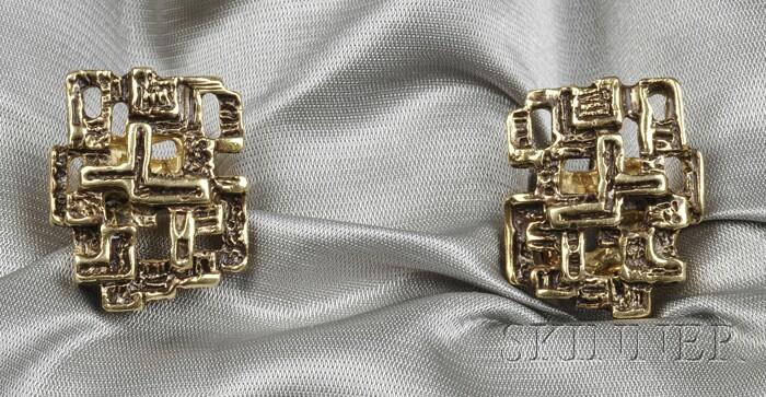 18kt Gold Cuff Links, Arthur King