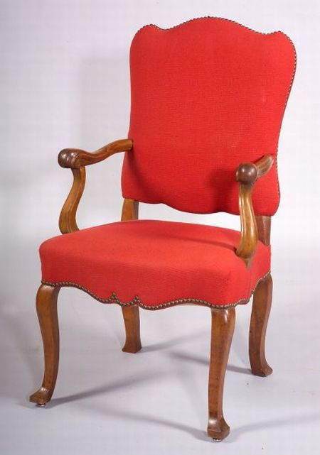 French Fruitwood Open Armchair