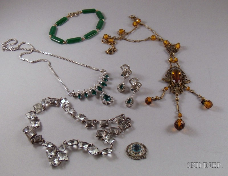 Group of Assorted Art Deco and Later Costume Jewelry