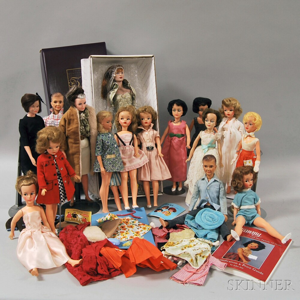 Group of Late 20th Century Dolls and Accessories