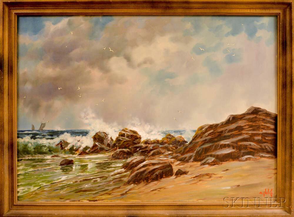 Alexander Nelke (American, 1894-1974)    Rocky Coast