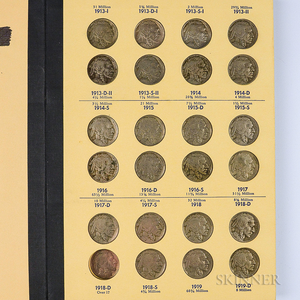 Complete Date and Mintmark Set of Buffalo Nickels