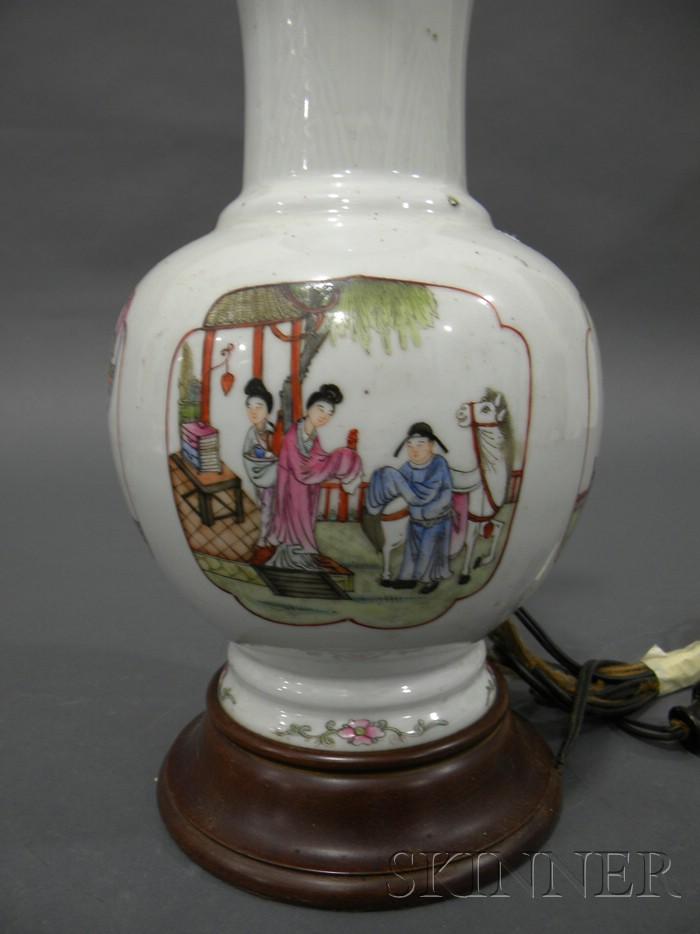 Famille Rose Bottle Vase