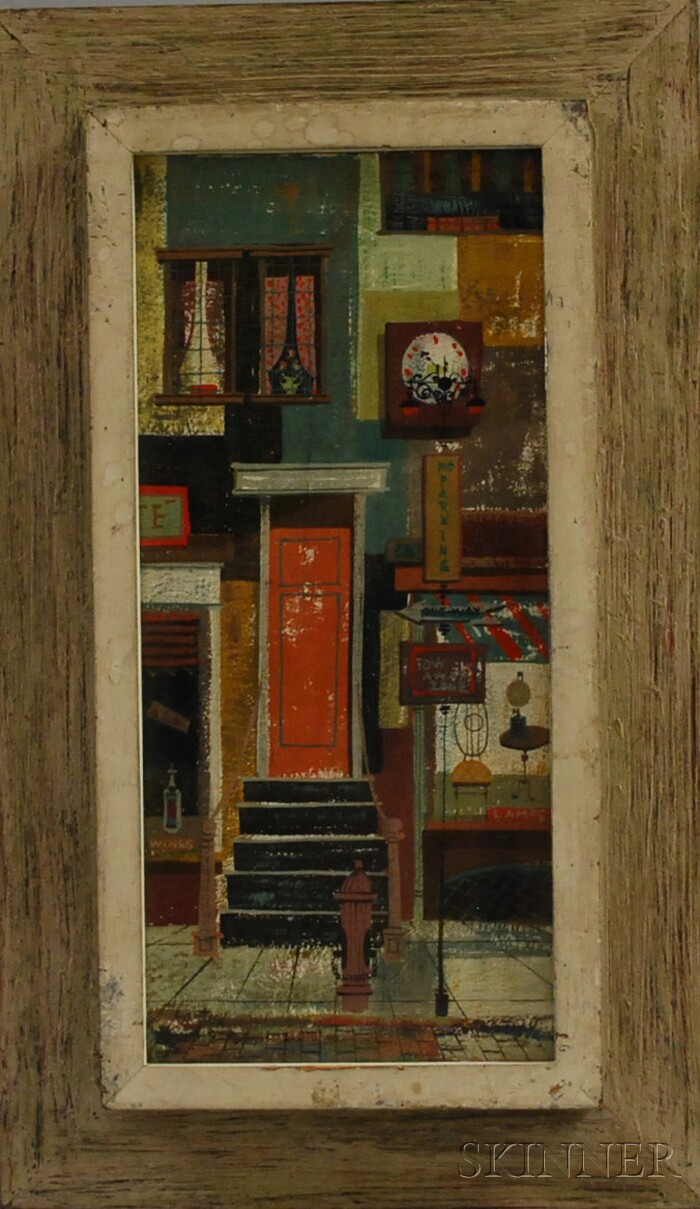 Margaret Layton (American, 20th Century)      Storefronts