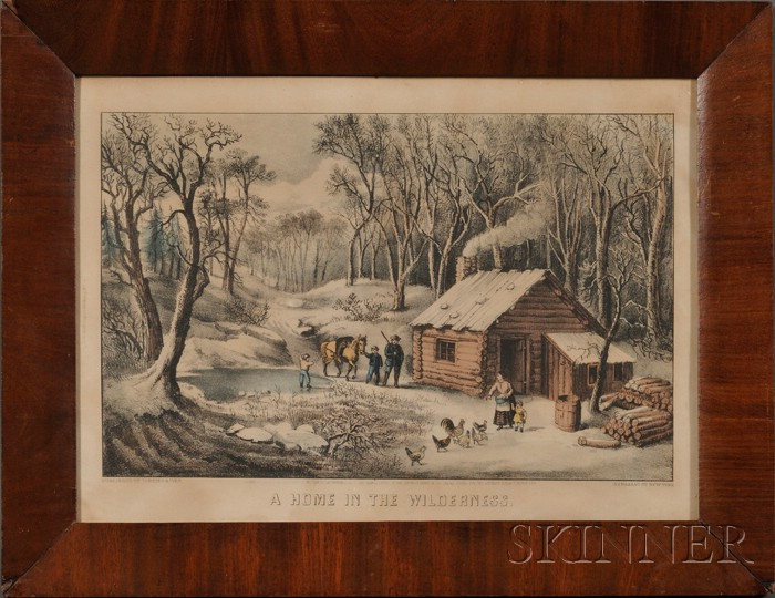 Currier & Ives, publisher (American, 1857-1907)      A Home in the Wilderness.