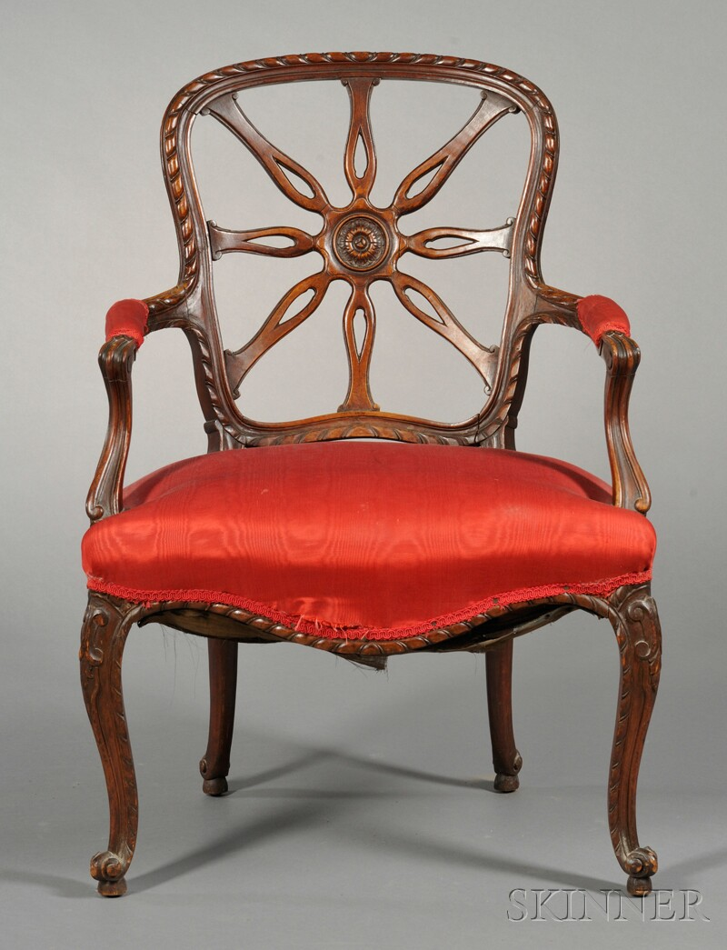 George III-style Spider-back Armchair
