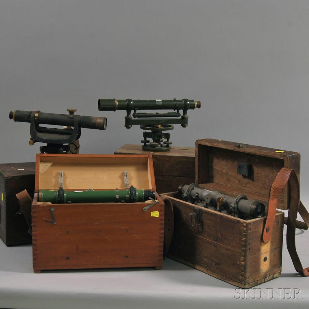 Four Surveyor's Levels