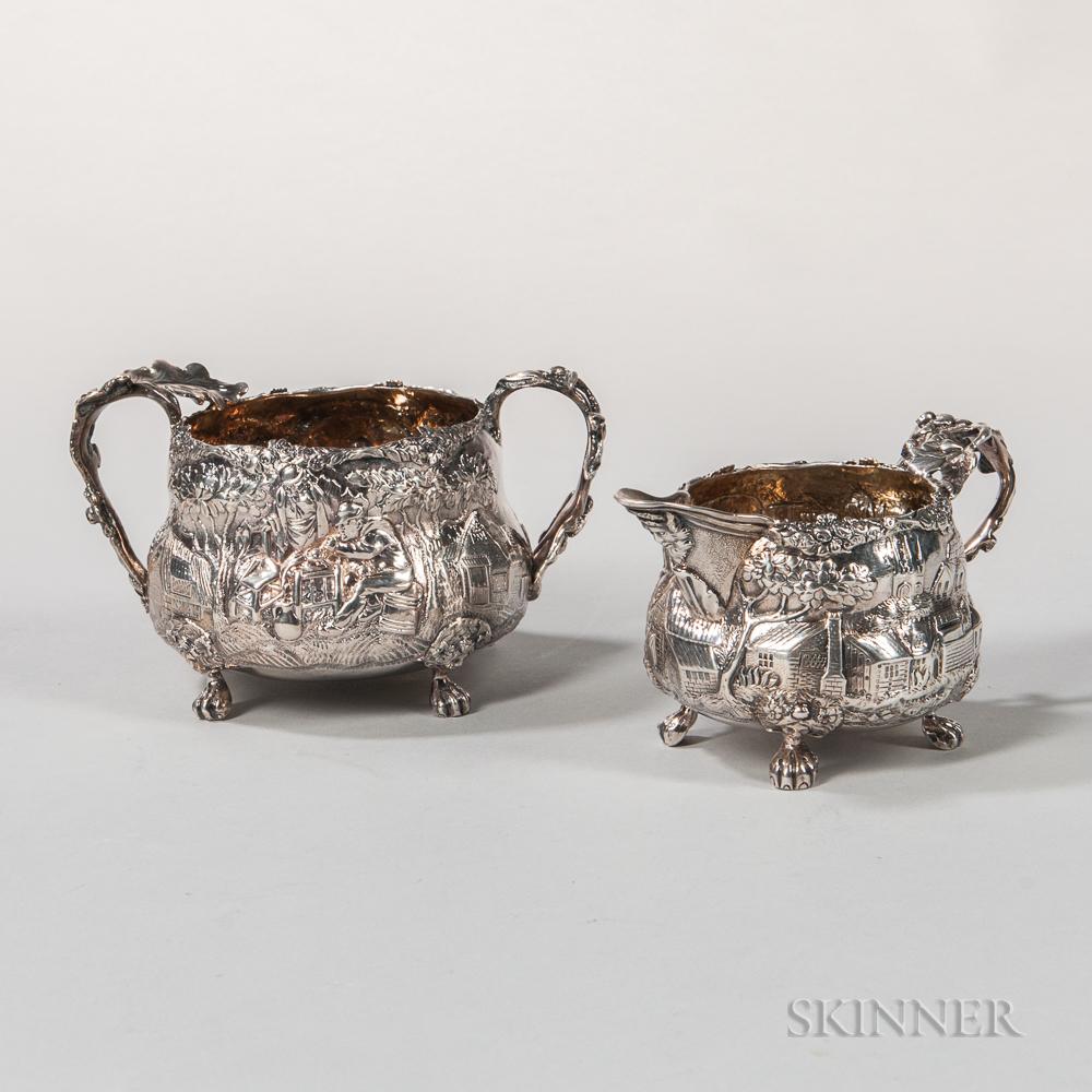George III Sterling Silver Creamer and Sugar