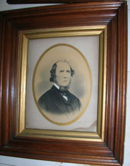 Pair of Framed 19th Century Hand Painted Ink and Gouache Portraits