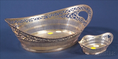 Two Dutch .833 Silver Reticulated Baskets