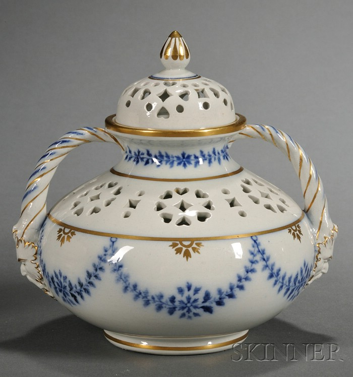 Wedgwood Pearlware Potpourri Vase and Cover