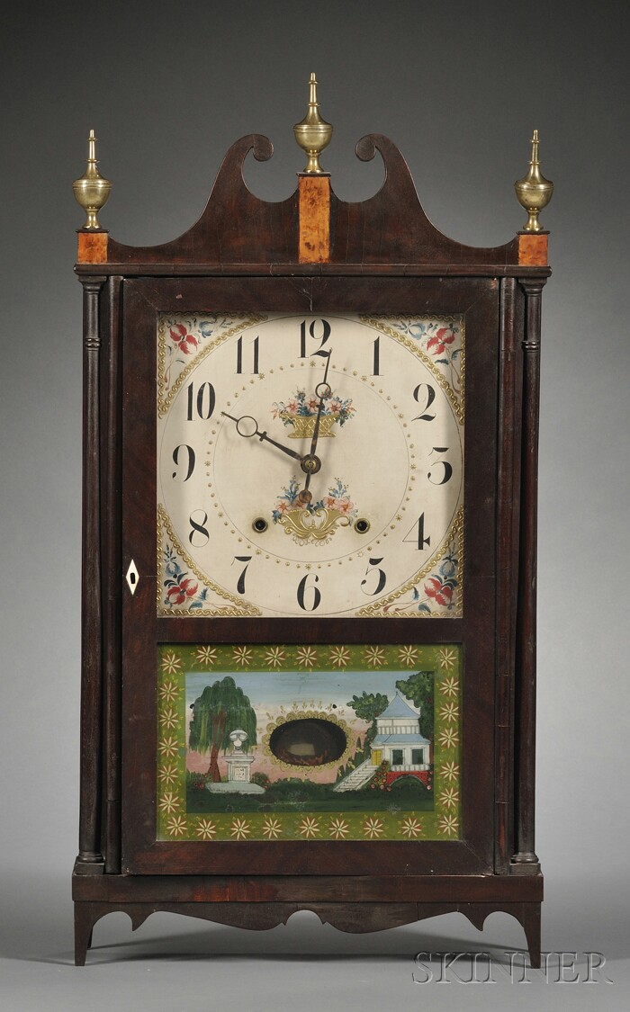 Company Butler butler & henderson & company pillar and scroll shelf clock