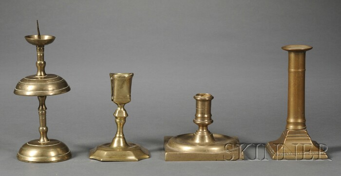 Four Brass Candlesticks