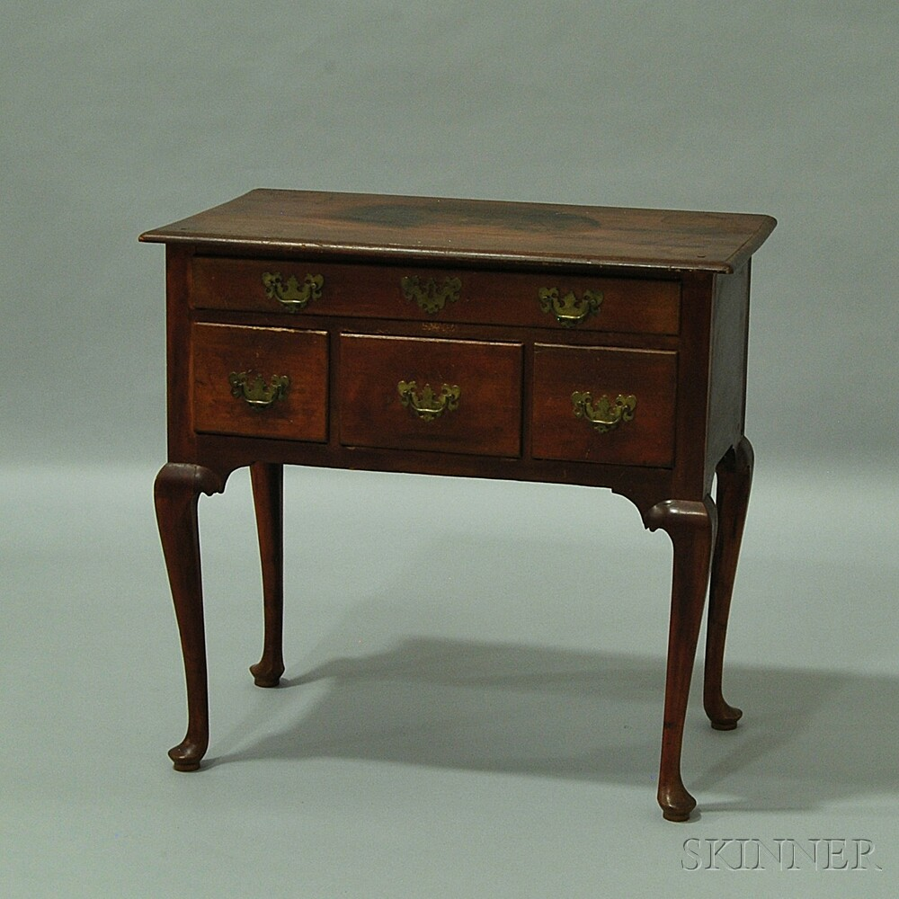 Queen Anne Stained Pine Dressing Table