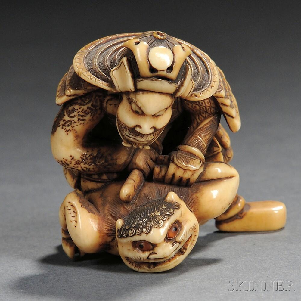 Ivory Netsuke of Shoki