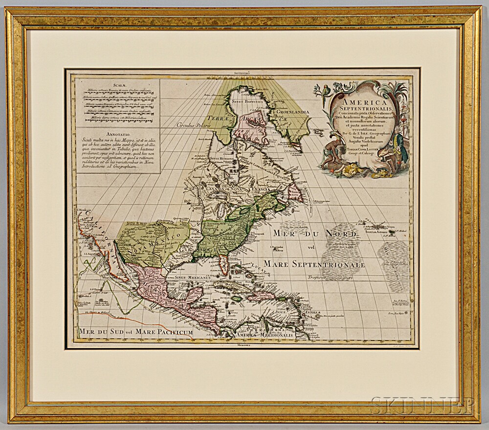 North America And Venezuela Two Early Maps Sale Number T - Early maps of america