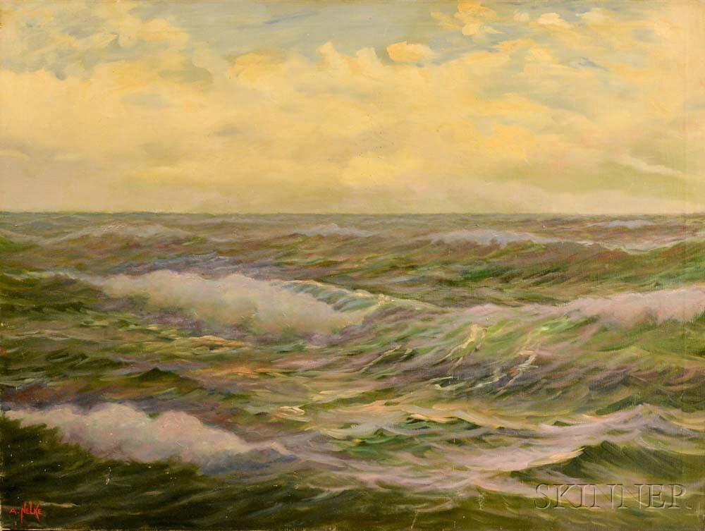 Alexander Nelke (American, 1894-1974)    Seascape