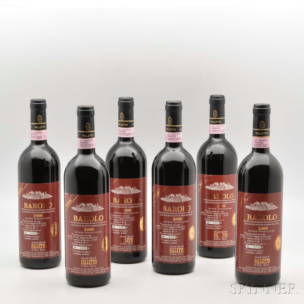 Bruno Giacosa Barolo Riserva Le Rocche del Falletto di Serralunga dAlba 2000, 6 bottles
