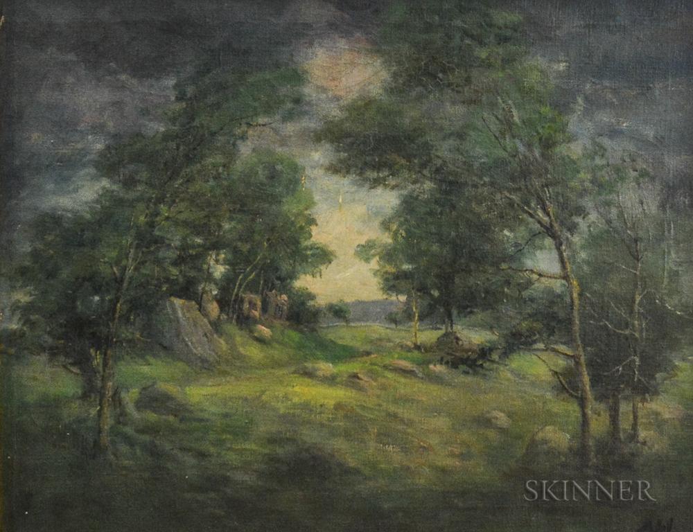 Henry Hammond Ahl (American, 1869-1953)      Field at Dusk