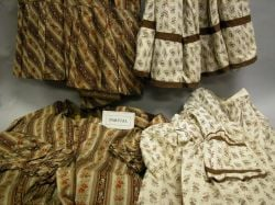 Group of Assorted 19th and Early 20th Century Printed Clothing Items