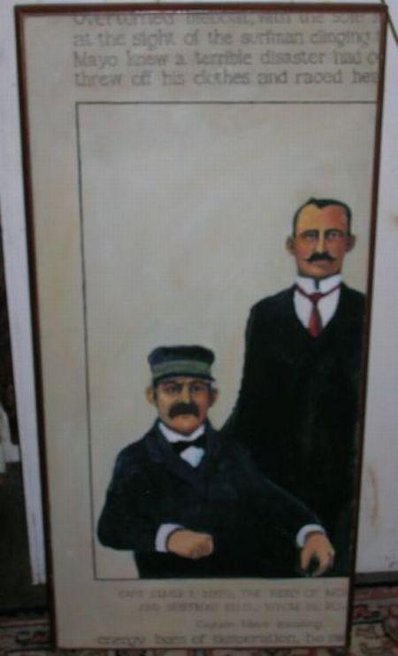 Modern Framed Oil on Canvas Portrait of Two Seamen