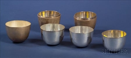 Set of Twelve Gebelein Silver Nesting Tumblers