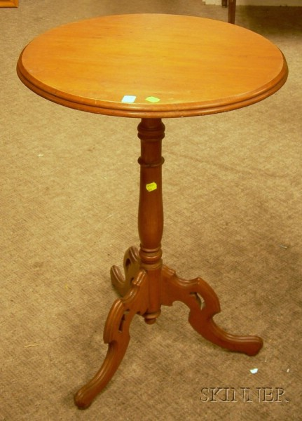 Renaissance Revival Carved Walnut Stand.
