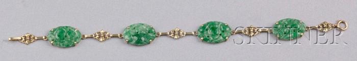 14kt Gold and Jadeite Bracelet