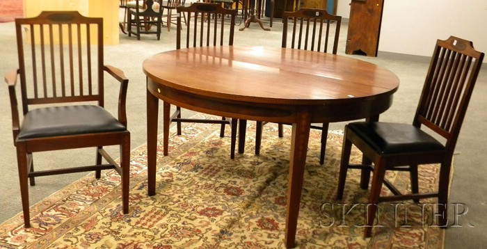Ten-piece Federal-style Inlaid Mahogany Dining Room Set