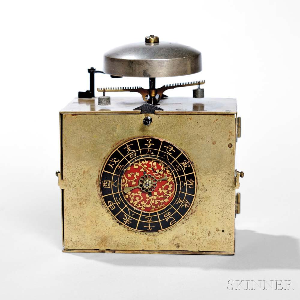 Japanese Single Foliot Makura Dokei or Bracket Clock