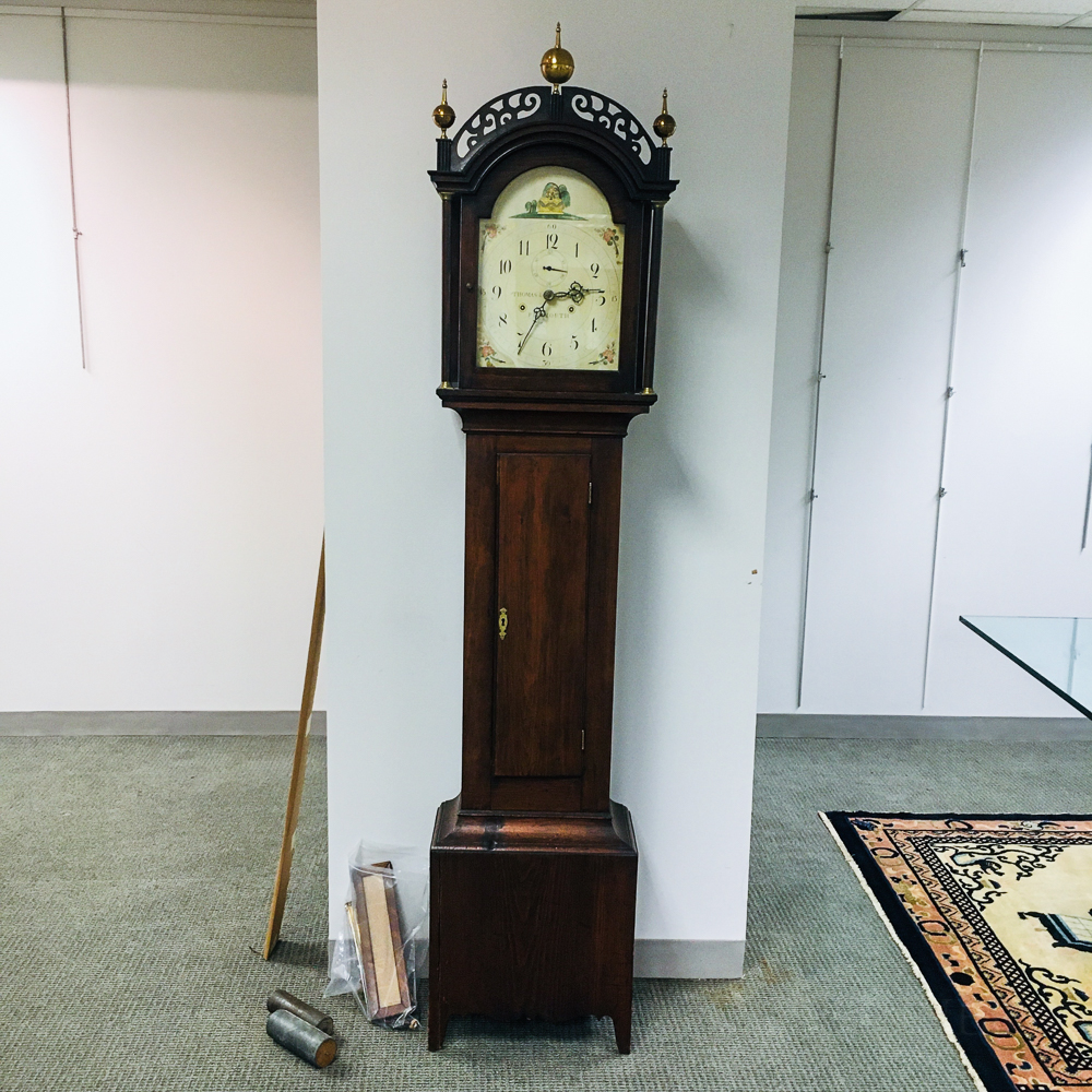 Federal Pine Tall Case Clock