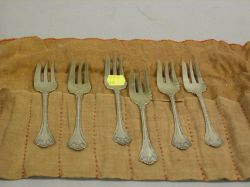 "Six Whiting ""Empire"" Pattern Fish Forks"