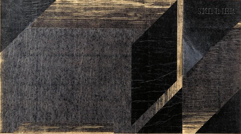 Jo Sandman (American, 20th Century)      Lot of Two Untitled Works: Black Fields
