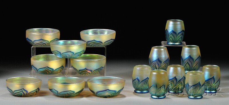 James Lundberg Set of Eight Bowls and Eight Tumblers