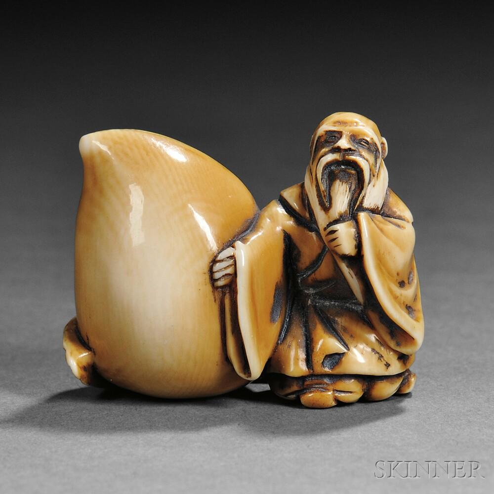 Ivory Carving of a Sennin