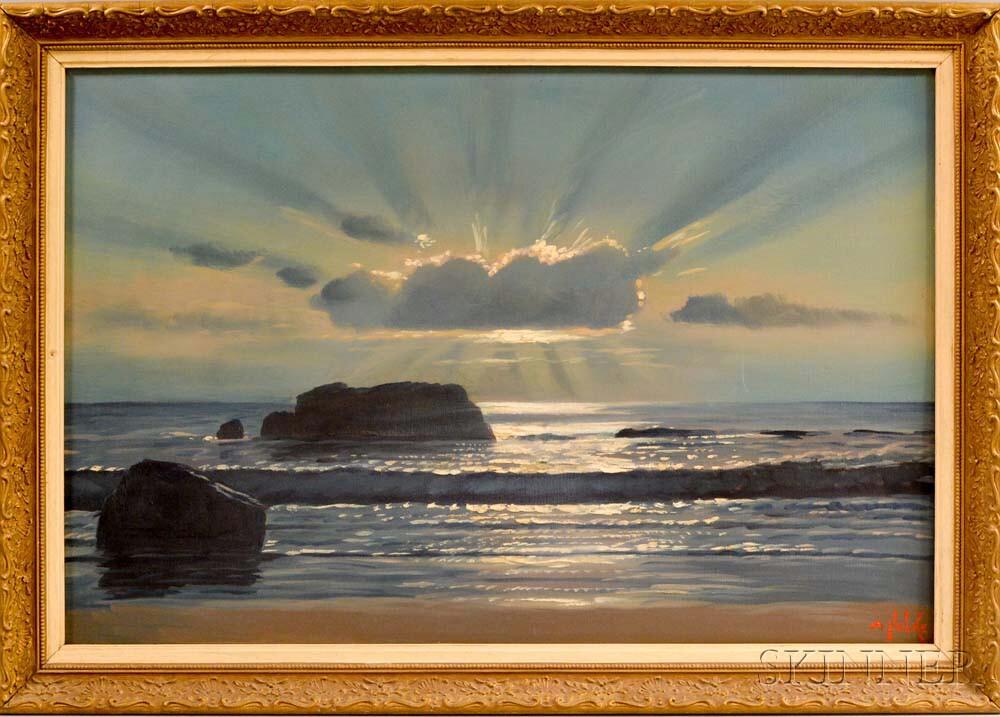 Alexander Nelke (American, 1894-1974)    Sun Behind Clouds