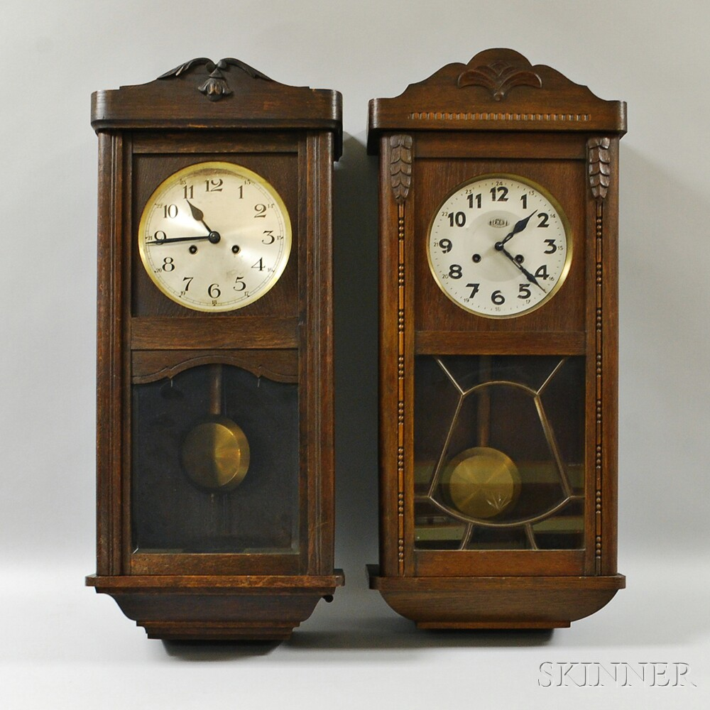 Two Chiming Wall Clocks Sale Number 2910M Lot Number 202