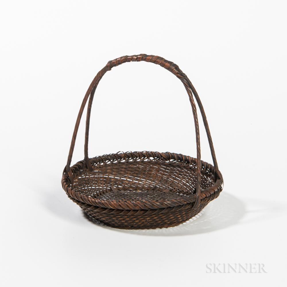 Small Woven Basket by Hayakawa Shokosai I (1815-1897)