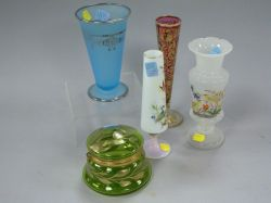 Five Pieces of Victorian Art Glass