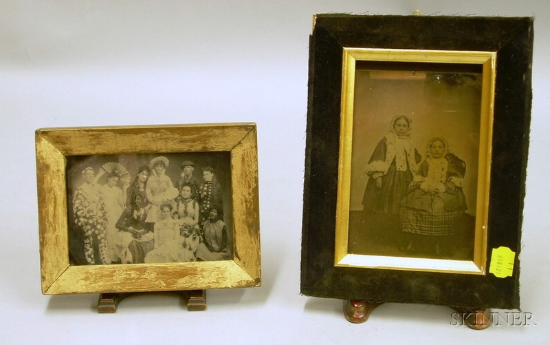 Two Framed Early Portrait Photographs