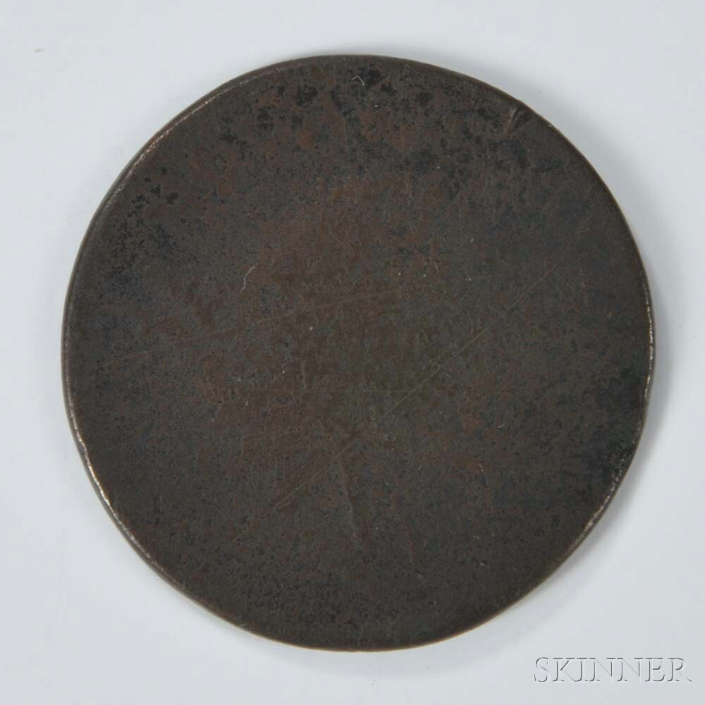 1787 New Jersey Copper, Maris 6-D.     Estimate $50-100