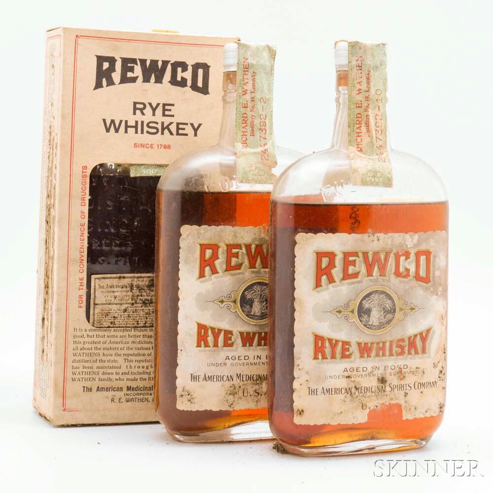 Rewco Rye Whiskey   15 Years Old   1917