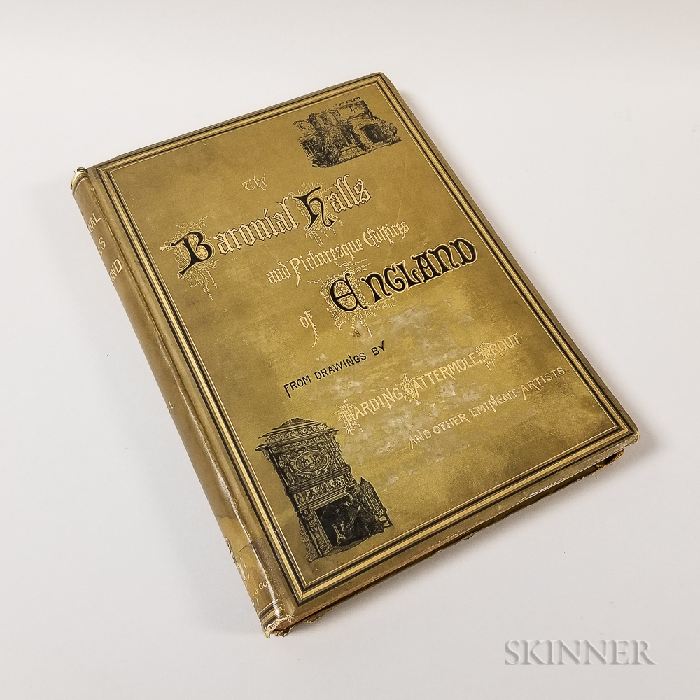 One Volume of S.C. Hall's The Baronial Halls and Ancient Picturesque Edifices of England  .     Estimate $100-150