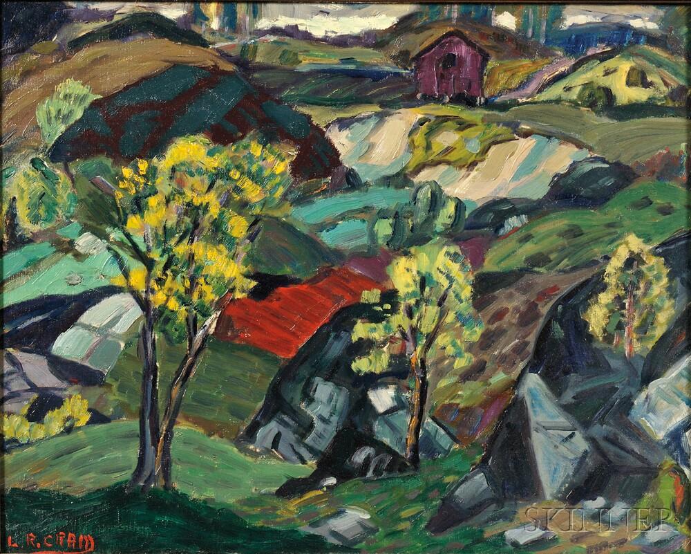 Leighton Cram (American, 1895-1981)      Spring Trees