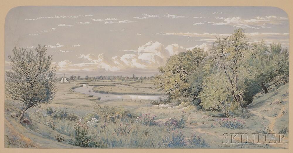 William Rickarby Miller (New York, 1818-1893)      Dutchkill Creek, Long Island.