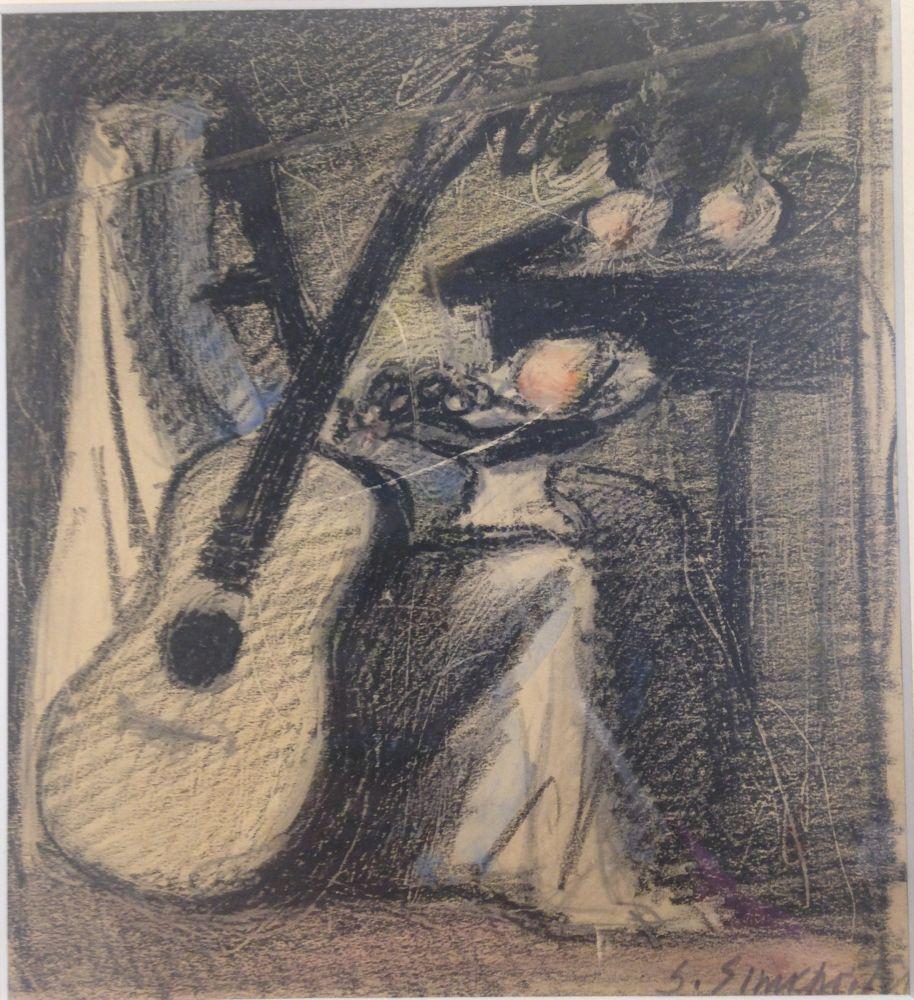 Simka Simkhovitch (Russian/American, 1893-1949)      Still Life with Guitar