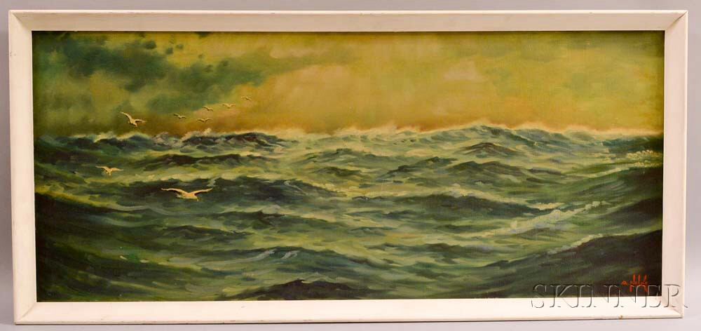 Alexander Nelke (American, 1894-1974)    Seascape with Gulls