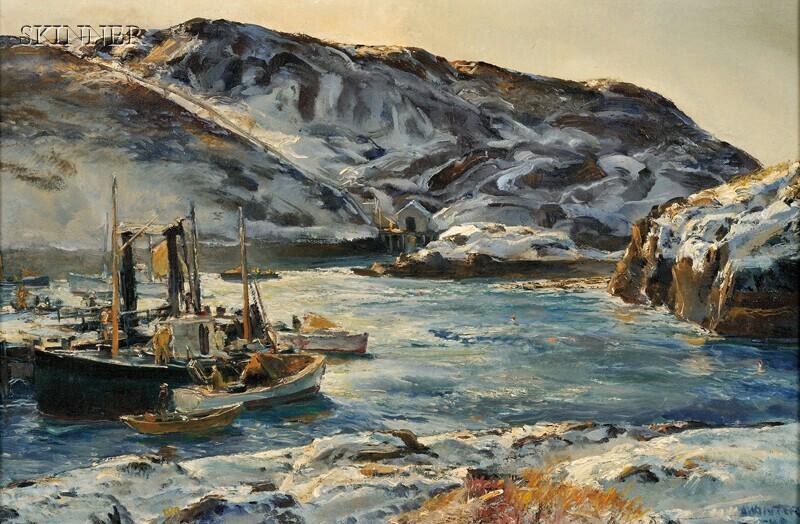 Andrew George Winter (American, 1893-1958)      Monhegan Fishermen